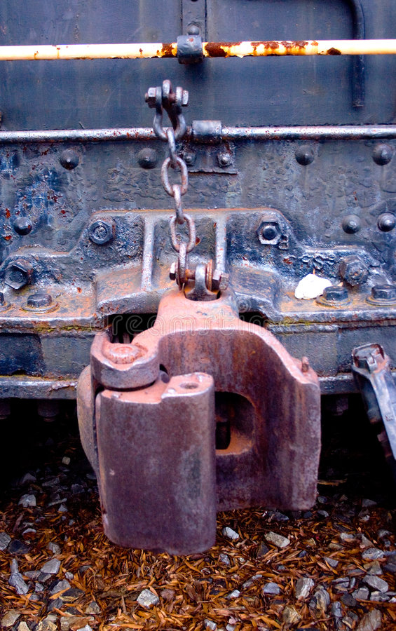 Acoplador del tren imagen de archivo