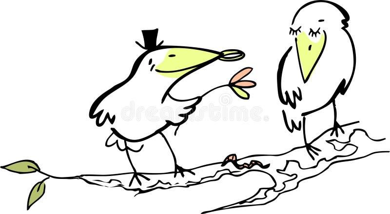 Acoplamento ilustração do vetor
