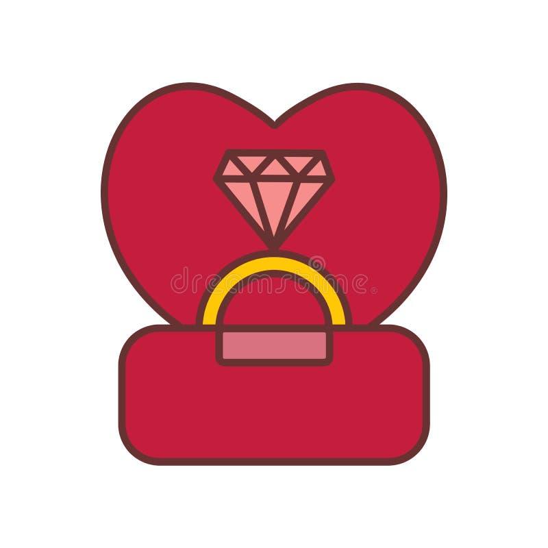 Acoplamento Diamond Ring Vetora Illustration Graphic ilustração do vetor