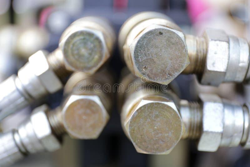 Acoplamento hidráulico fotos de stock royalty free