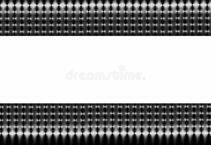 Acoplamiento negro y de plata abstracto stock de ilustración
