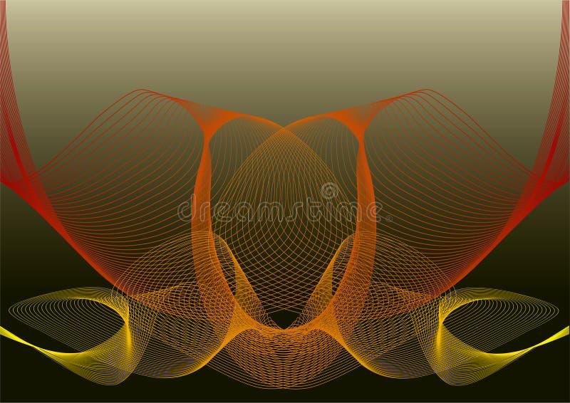 Acoplamiento rojo amarillo abstracto de la torcedura libre illustration