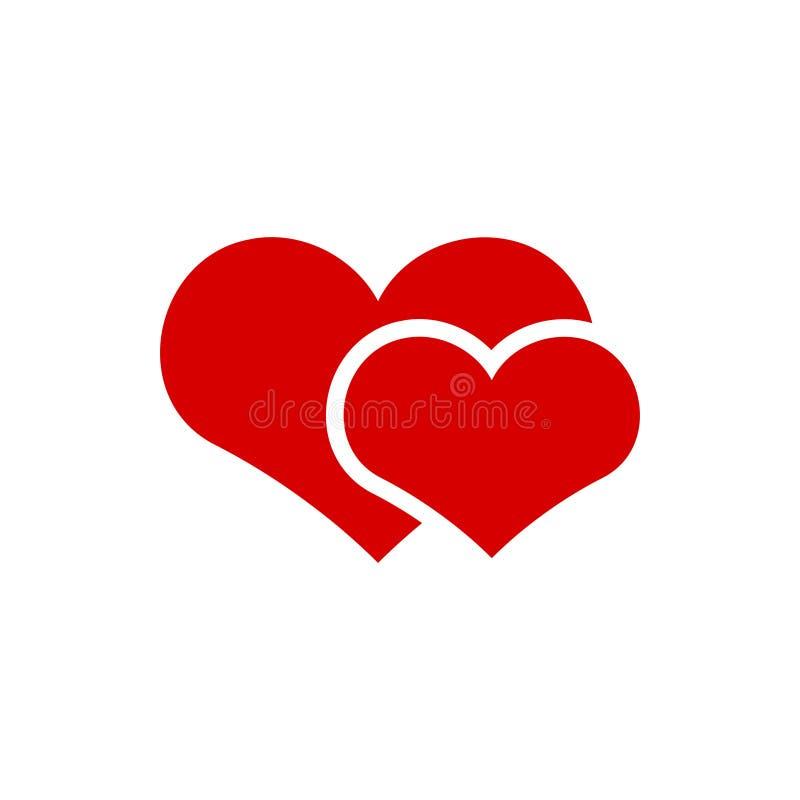 Acople a ilustração do vetor do molde do projeto gráfico do ícone do coração ilustração do vetor