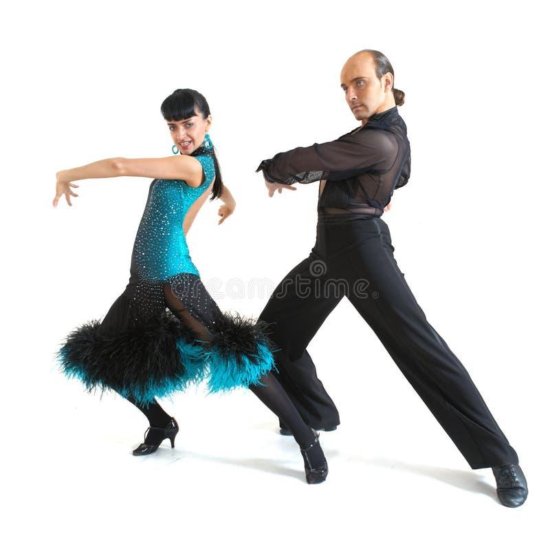 Acople o estilo de latina dos dançarinos imagem de stock royalty free