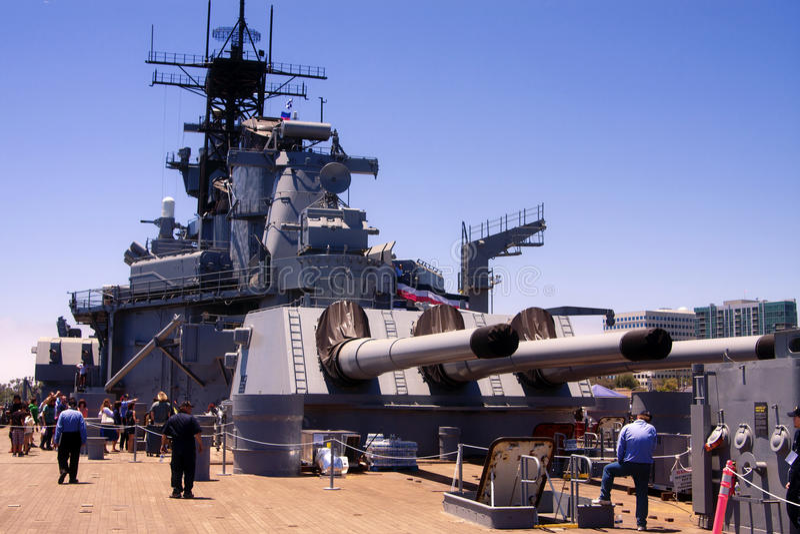 Acorazado famoso de USS Iowa Estados Unidos imagen de archivo