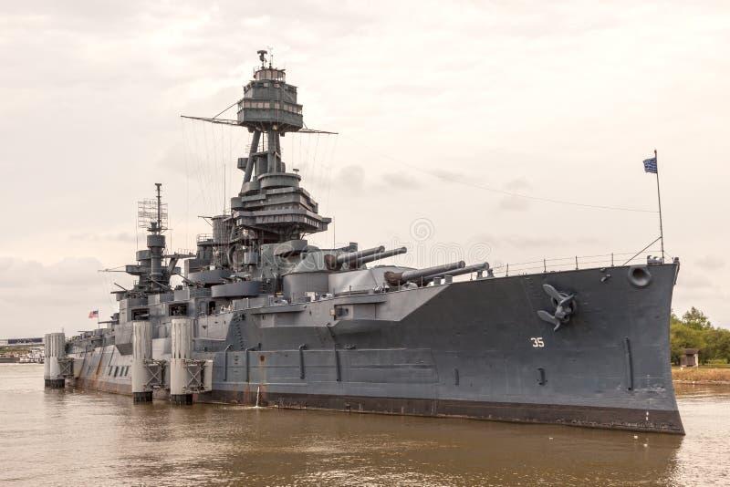 Acorazado USS Tejas foto de archivo