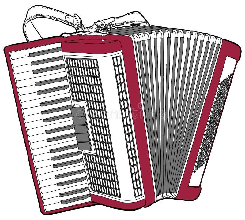 Acordeão do concerto ilustração royalty free