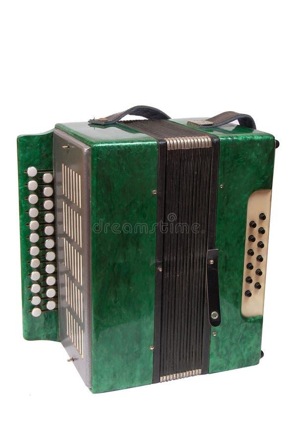 Acordeão verde fotos de stock