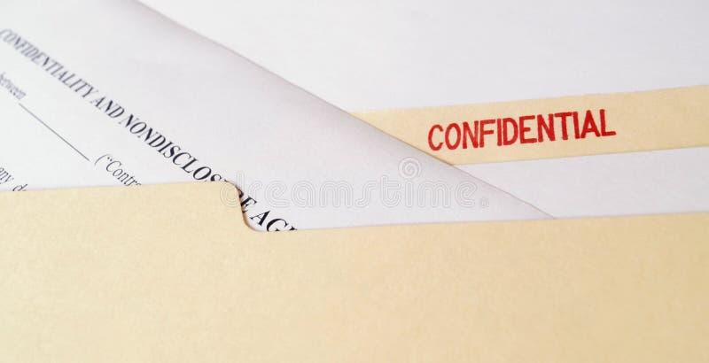 Acordo confidencial da Não-divulgação fotos de stock