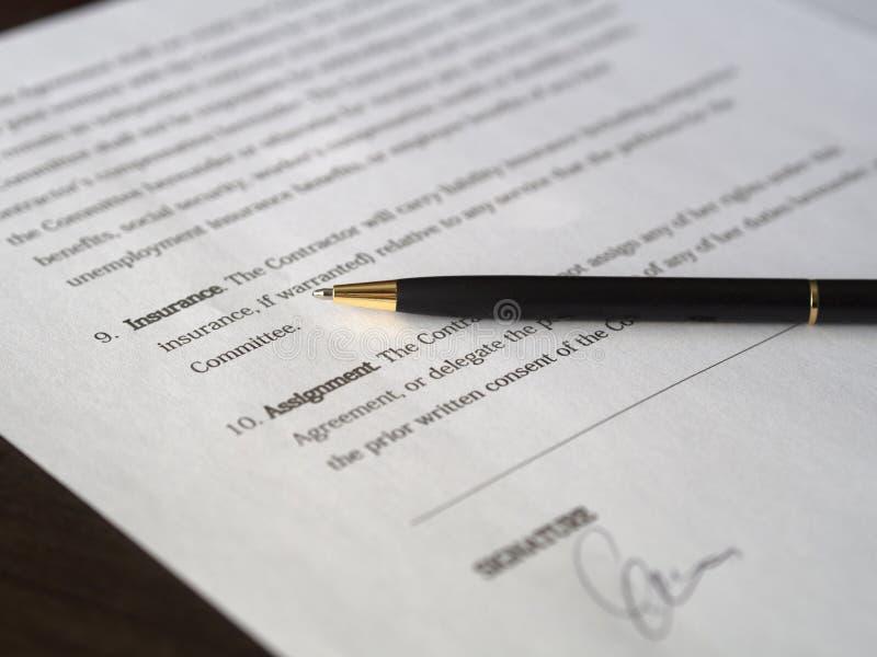 Acordo de assinatura