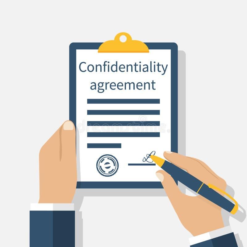Acordo de confidencialidade ilustração royalty free