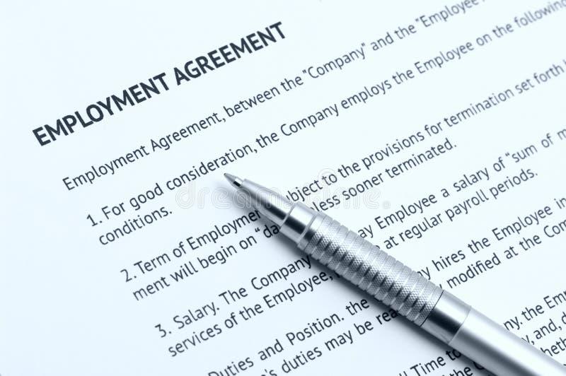 Acordo de emprego imagens de stock royalty free