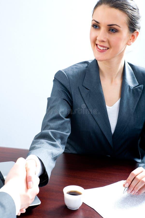 Acordo do negócio imagem de stock