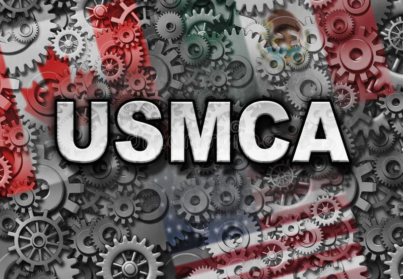 Acordo do negócio de USMCA ilustração royalty free