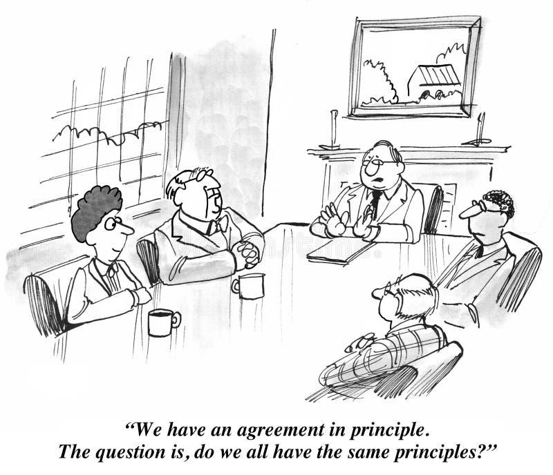 Acordo em princípio ilustração royalty free