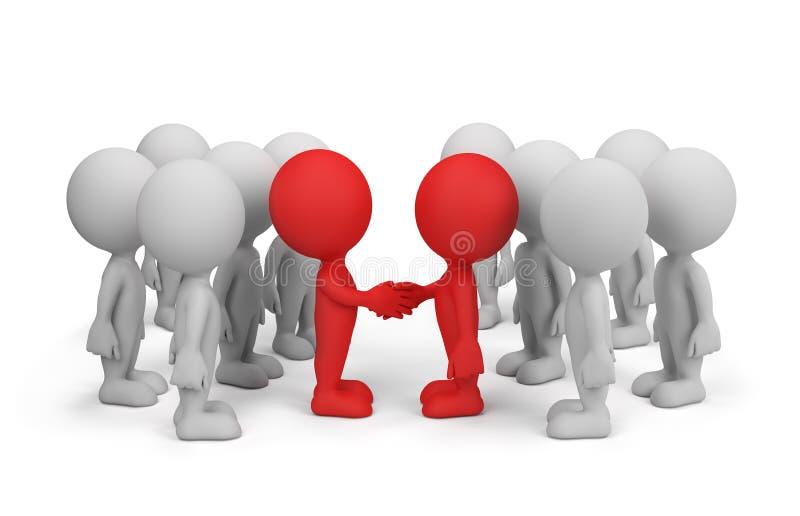 Acordo na cooperação ilustração stock