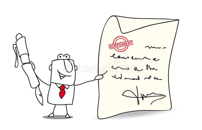 Acordo para o negócio ilustração do vetor