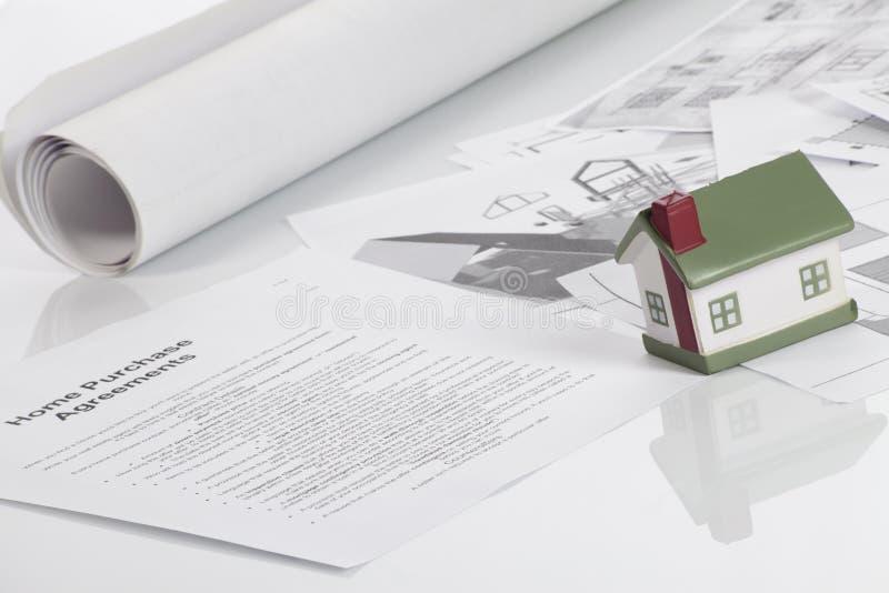 Acordos de compra Home imagens de stock royalty free