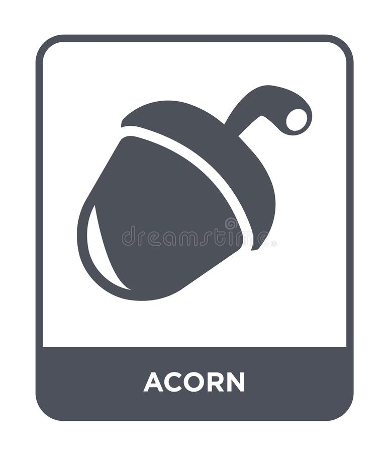 acorn icon in trendy design style. acorn icon isolated on white background. acorn vector icon simple and modern flat symbol for vector illustration