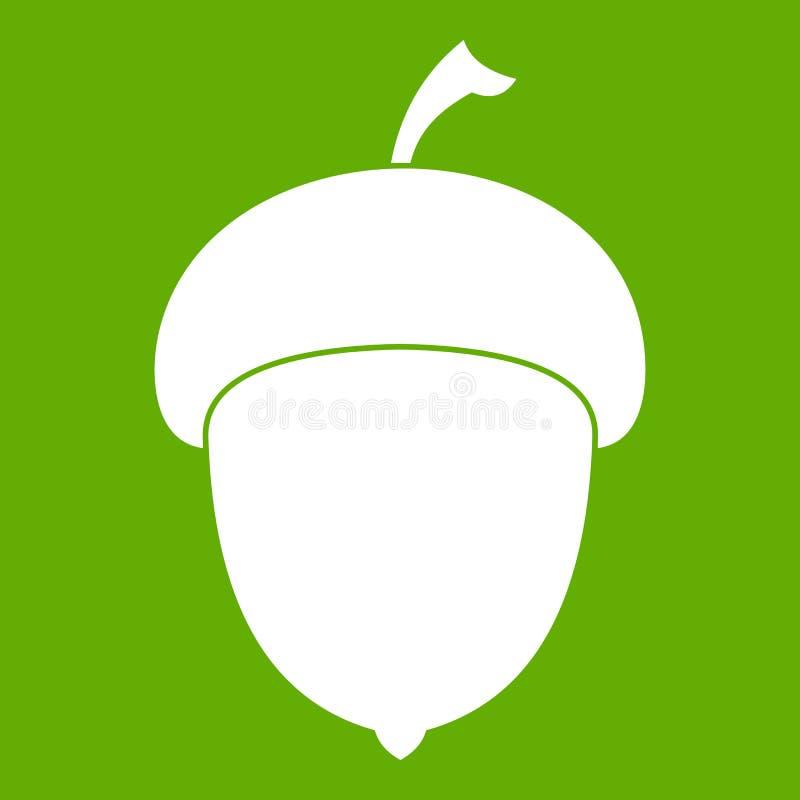 Acorn ikony zieleń ilustracja wektor