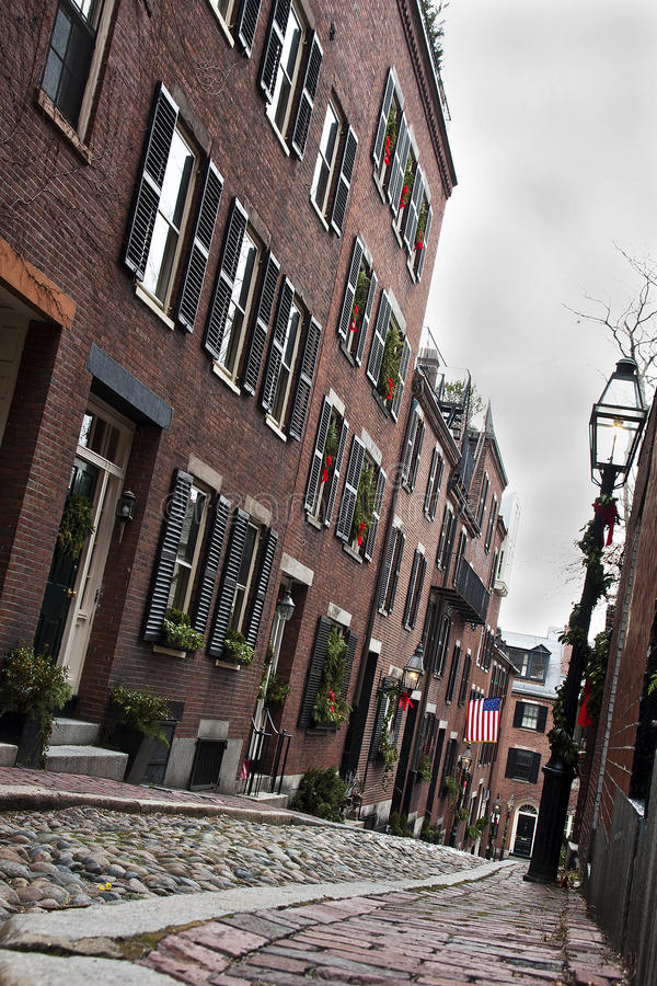 Acorn St. in Boston royalty free stock photography