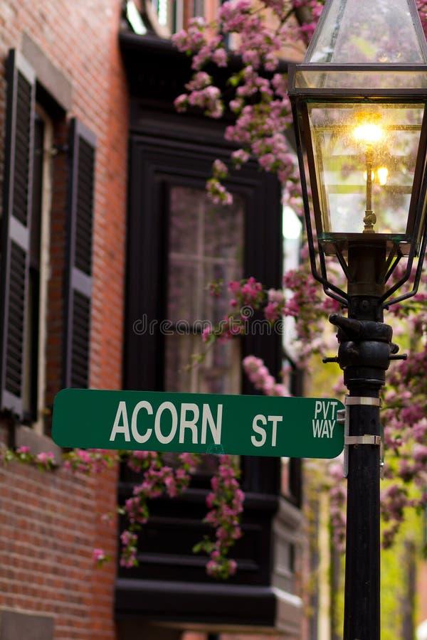 Acorn Street stock photography
