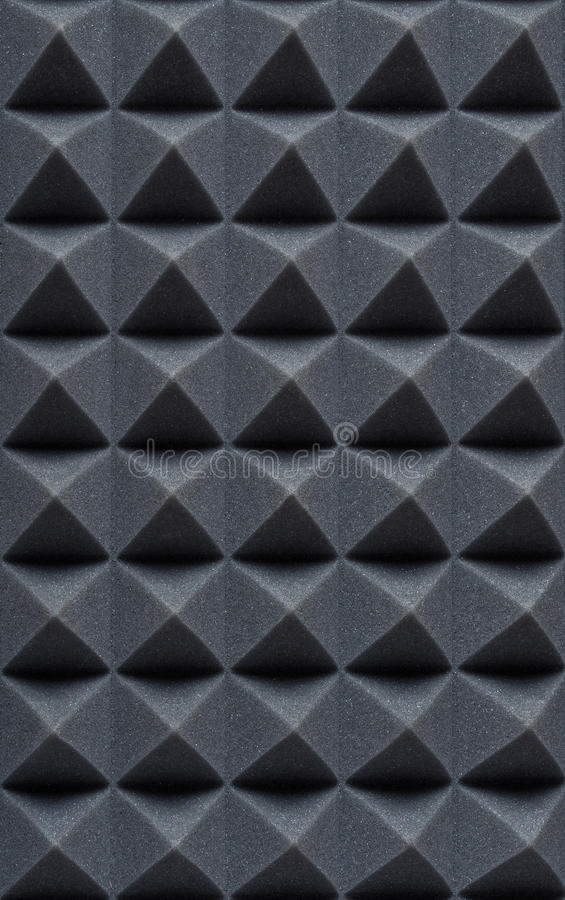 Free Acoustic Absorbing Foam For Studio Recording. Pyramid Shape. Royalty Free Stock Photos - 85225898