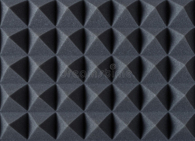 Acoustic absorbing foam for studio recording. Pyramid shape. royalty free stock images