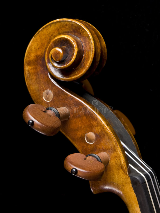 Download Acoustic Classical Violin Scroll Pegs Left Side Royalty Free Stock Photo - Image: 7459875