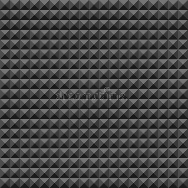 Free Acoustic Foam Rubber Wall Pattern, Dark Seamless Background With Pyramid And Triangle Texture For Sound Studio Recording Stock Image - 140578131