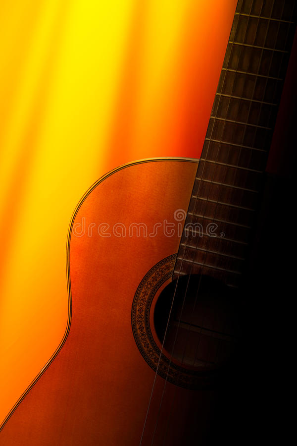 Download Acoustic guitar stock image. Image of flamenco, neck - 10038113