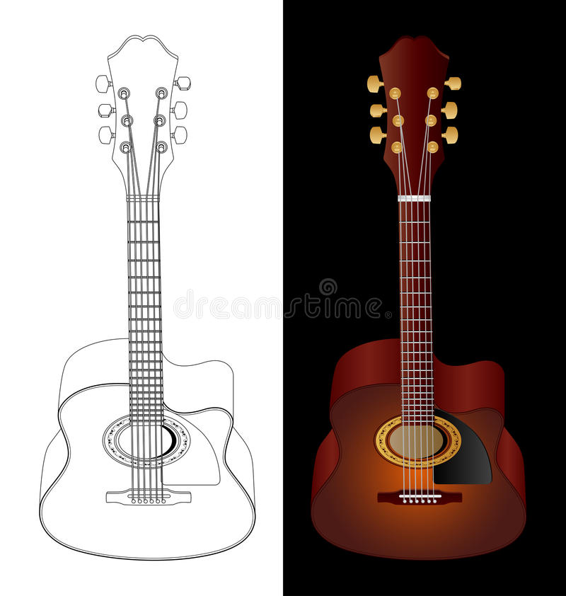 Download Acoustic guitar stock vector. Image of classic, country - 10169842