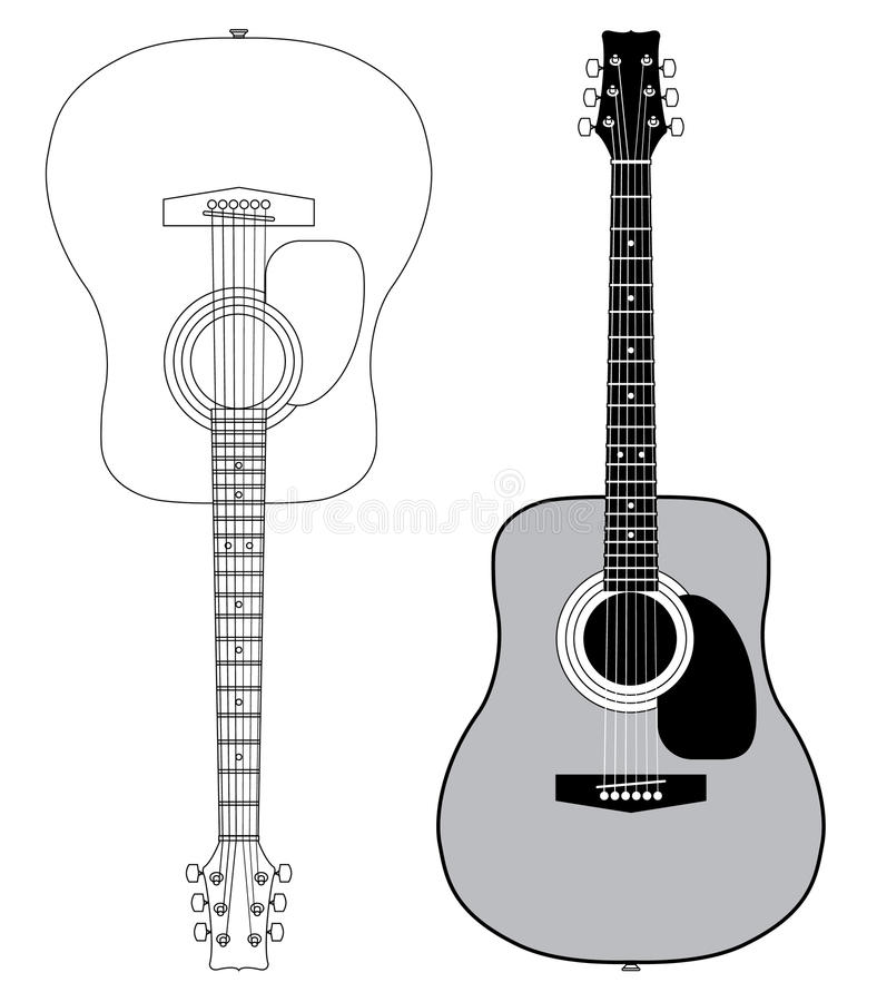 Download Acoustic guitar stock vector. Illustration of equipment - 11067722
