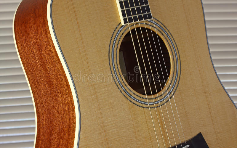 Download Acoustic Guitar stock image. Image of black, brown, blinds - 12551529