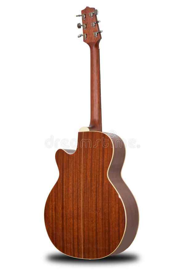 Acoustic guitar. Isolated on white back ground stock photography
