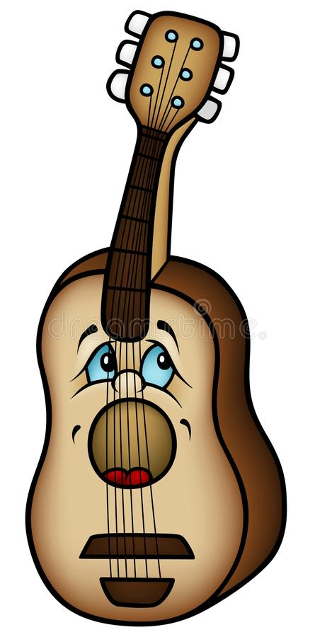 Download Acoustic Guitar stock vector. Illustration of cartoon - 23144689