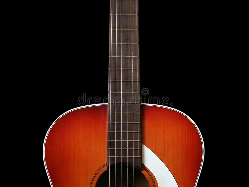 Acoustic guitar on black background 2 royalty free stock photos