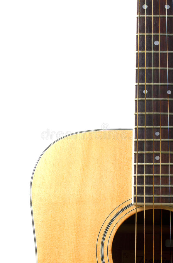 Download Acoustic Guitar Close Up Isolated On White Stock Image - Image: 12880435