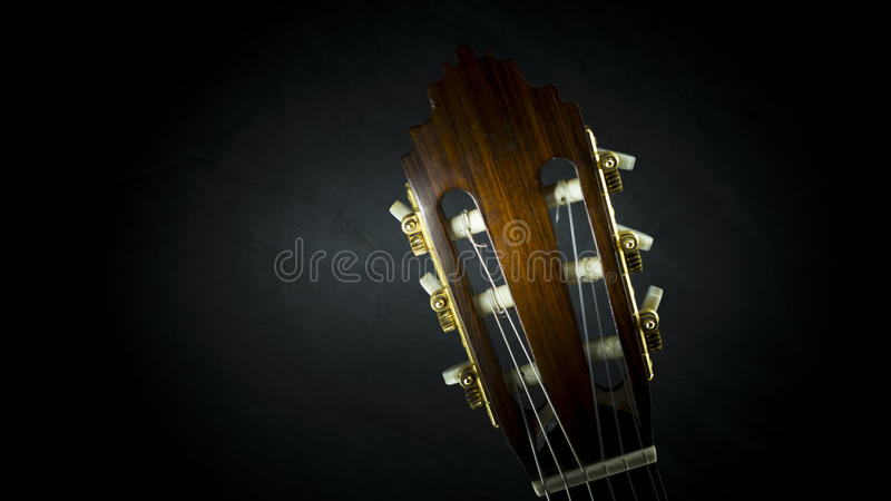 Download Acoustic guitar stock photo. Image of isolated, head - 90640020