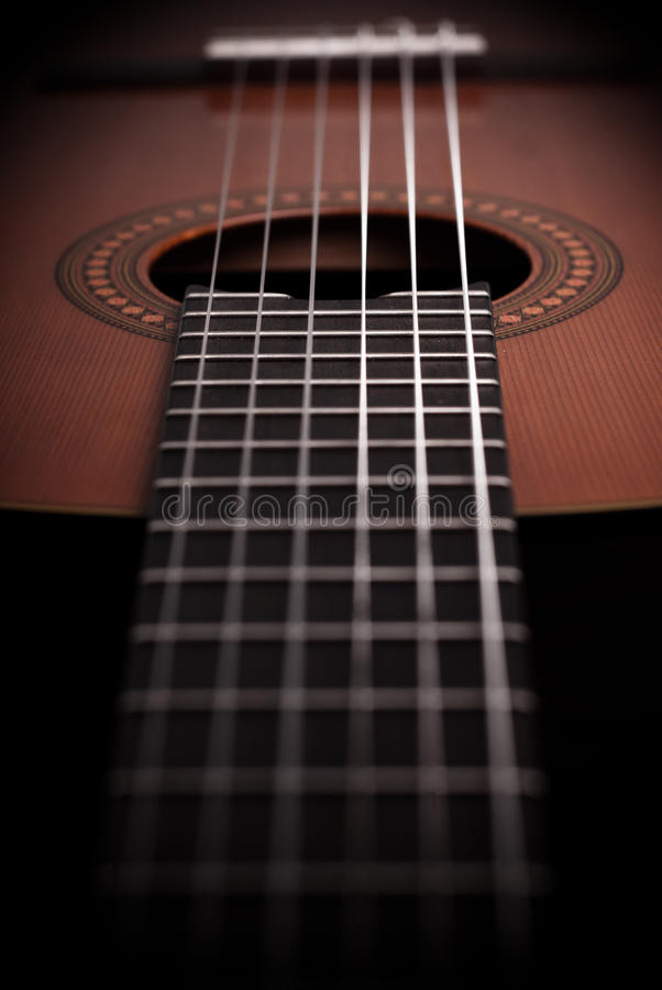 Acoustic guitar detail. Pic of Acoustic guitar detail stock photos