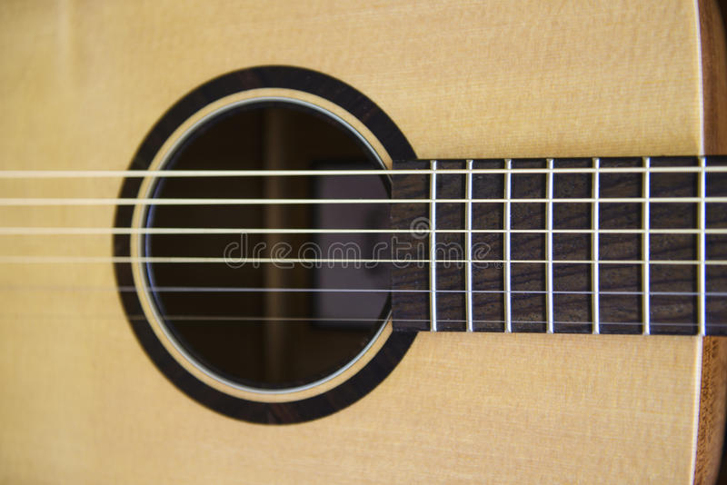Acoustic guitar detail royalty free stock images
