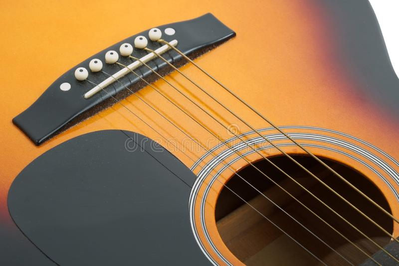 Acoustic Guitar Detail. Acoustic guitar close up detail royalty free stock images