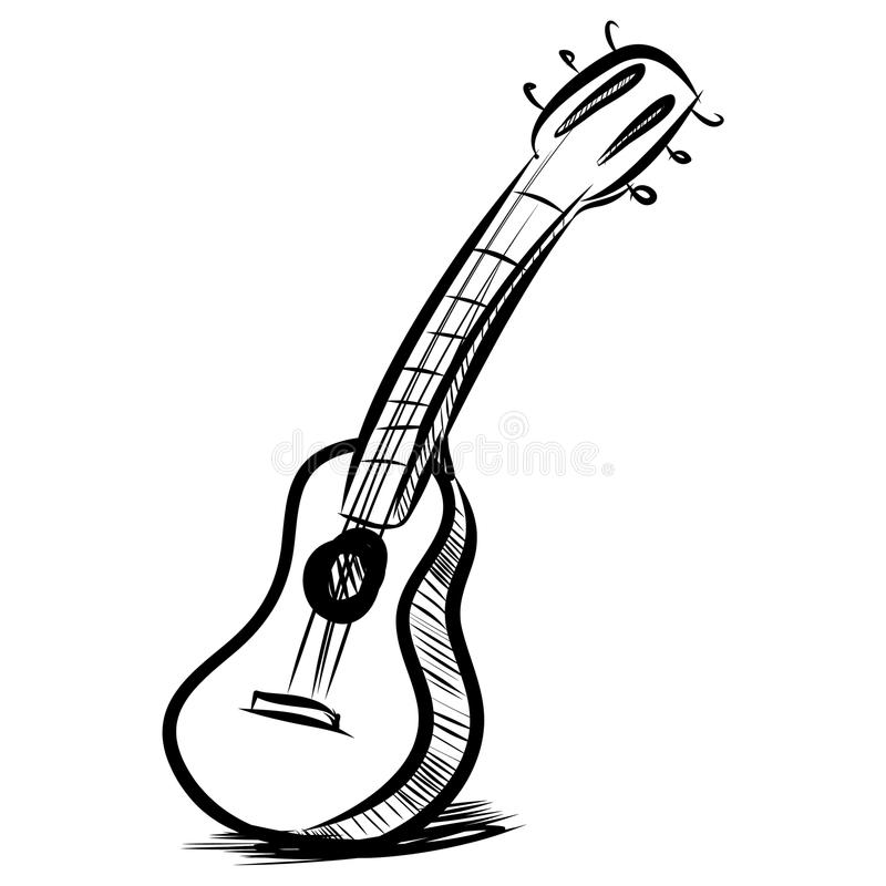 Download Acoustic Guitar Fast Sketch Stock Vector - Illustration of imagery, sketch: 35637088