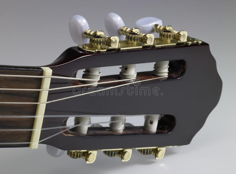 Acoustic Guitar Headstock Royalty Free Stock Photography