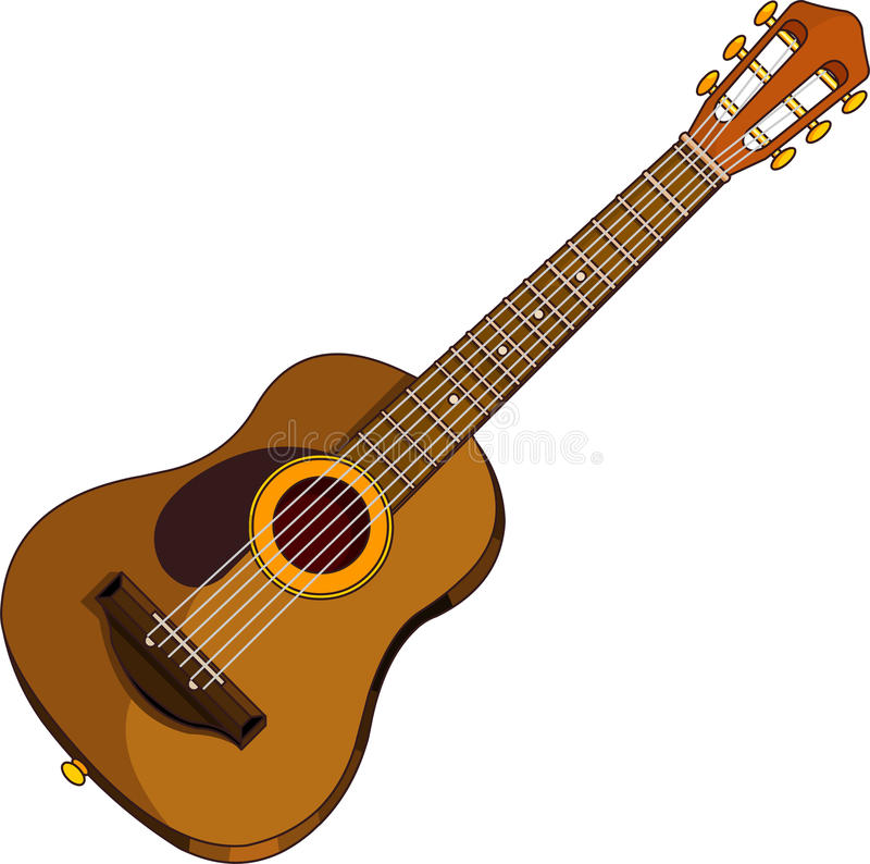 Acoustic guitar vector illustration