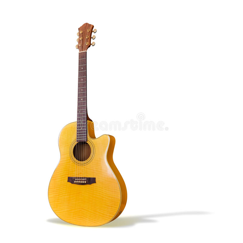 Free Acoustic Guitar/Isolated Royalty Free Stock Image - 20573426