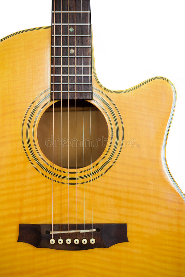 Free Acoustic Guitar/Isolated Stock Photo - 20576060