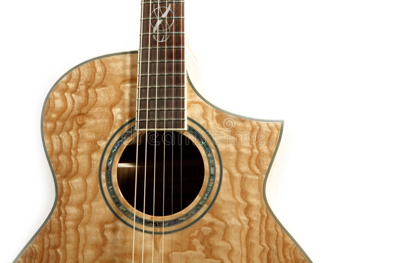 Acoustic guitar isolated stock photos