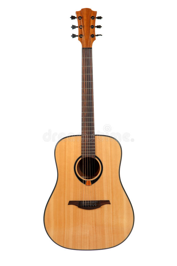 Free Acoustic Guitar Isolated Stock Photo - 61841300