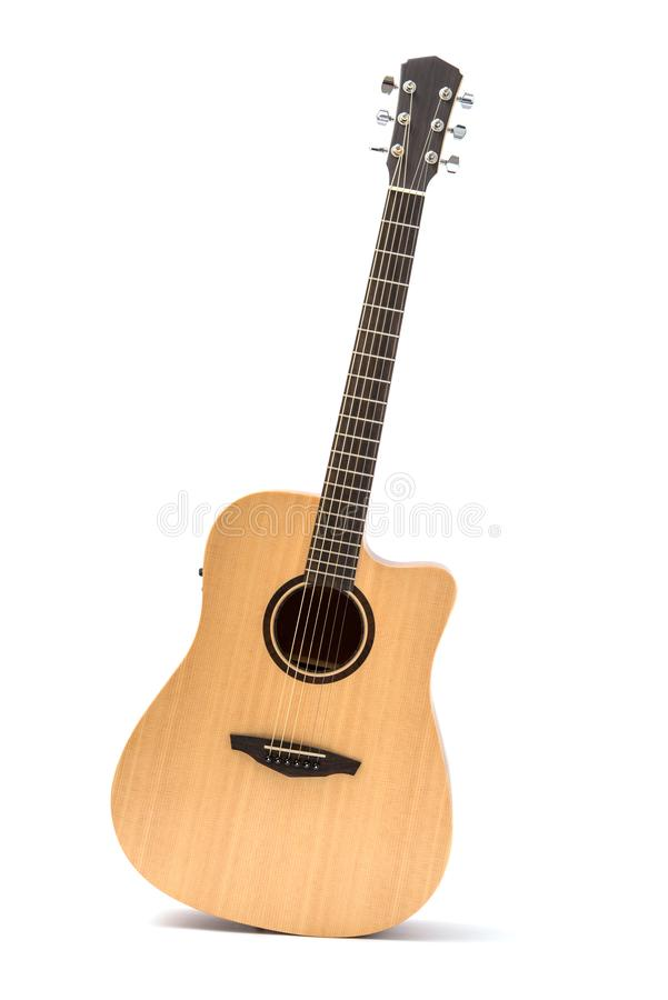 Acoustic guitar isolated stock images